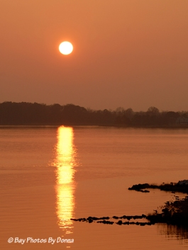 Sunset over Kent Island - March 17, 2012