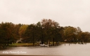 Winchester Creek from Rt 50 - pier's walkway is under water.