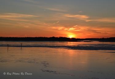 Sunset over Kent Island - January 24, 2014