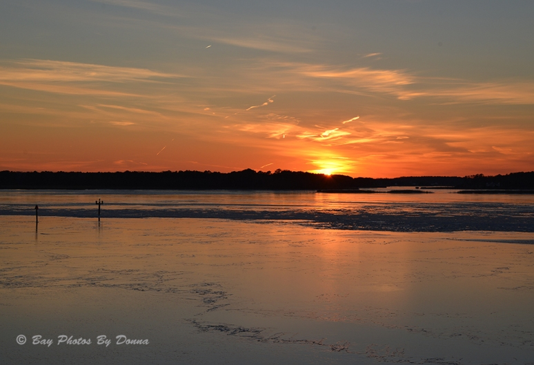 Sunset over Kent Island - January 24, 2014