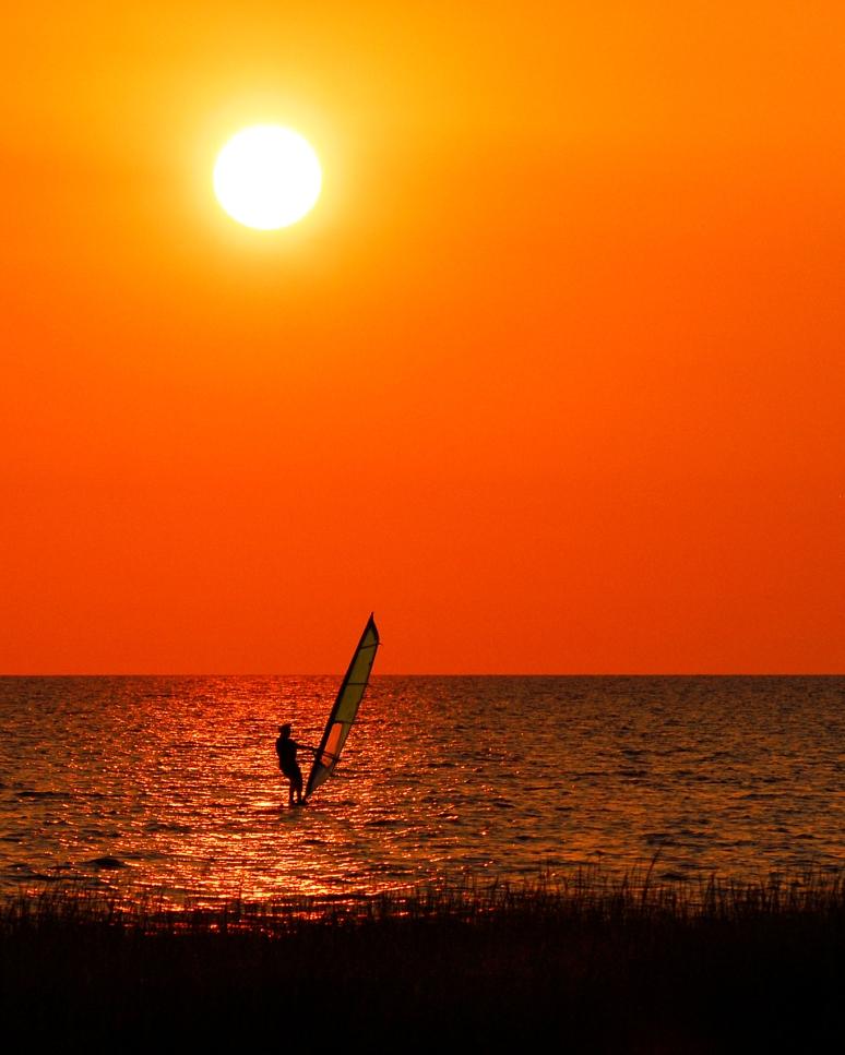 "People Plus - 2nd Place - ""Sunset Windsurfing"""