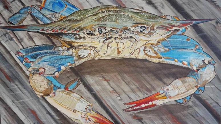 Crab Painting Deborah Rankin Matz