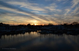 Sunset over Cambridge Creek - 12/7/18