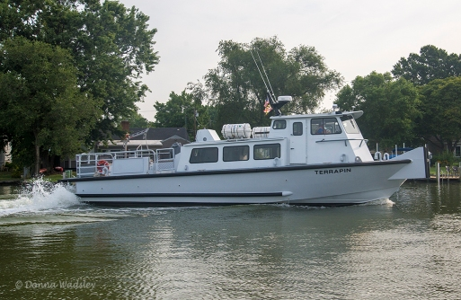 The Terrapin arriving to pick us up at Tilghman Island, Maryland.