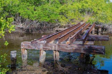 Remnants of bridge