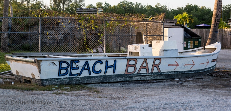 This way to the beach bar