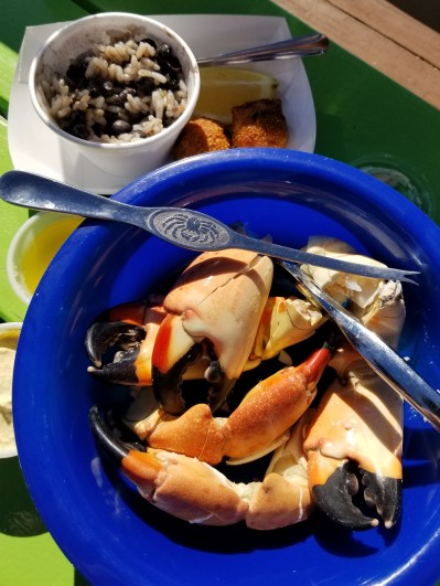 my first stone crab claws meal