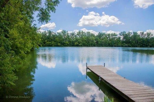 Lake Kekionga with pier