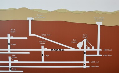 More than 370 miles of tunnels from the surface to the 8,000-foot level