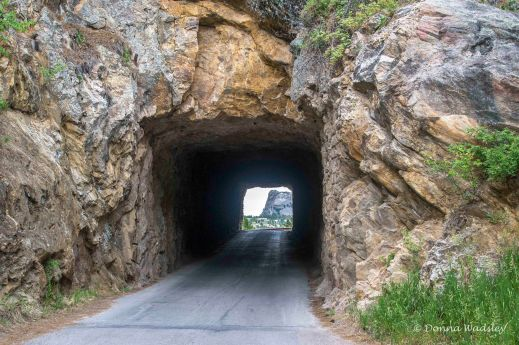 """Doane Robinson Tunnel (12' W & 11'4"""" H) - you can see Mt Rushmore framed while driving through it"""